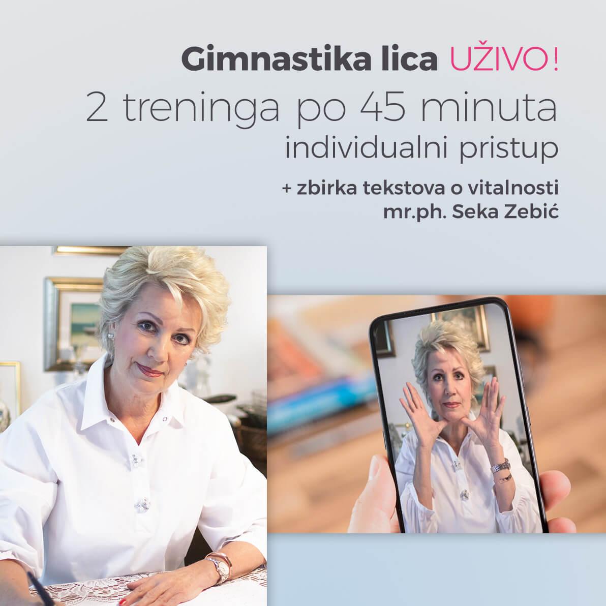 Online trening gimnastika lica